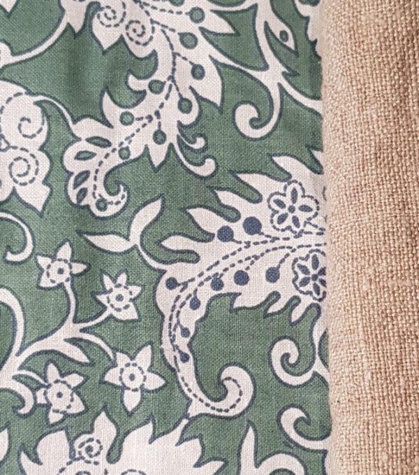 Knotentasche_Futter grün gemustert