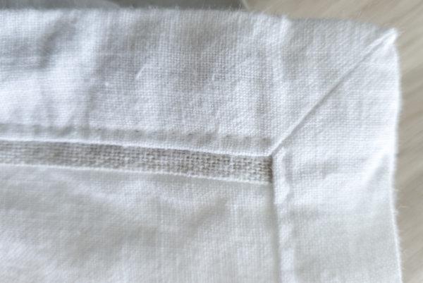 serviette weiß ecke
